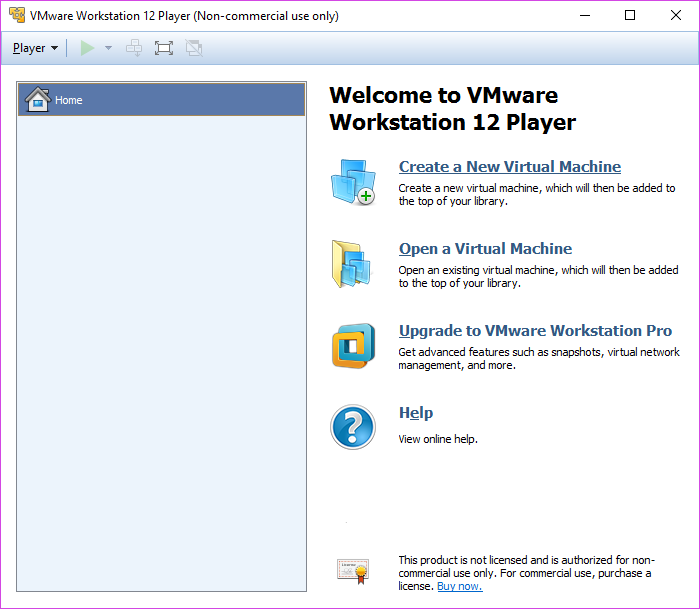 VMWare Player - Create New VM